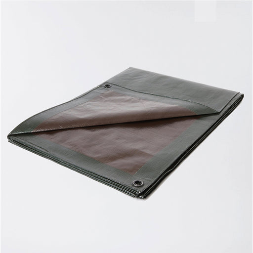 Tarpaulin sheet (L)15m (W)10m Green Brown Reversable Reuseable Hard Wearing - Image 1