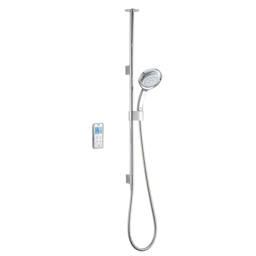 Mira Vision HP Ceiling-Fed White/Chrome Thermostatic Mixer Shower w/Digital Control - Image 1
