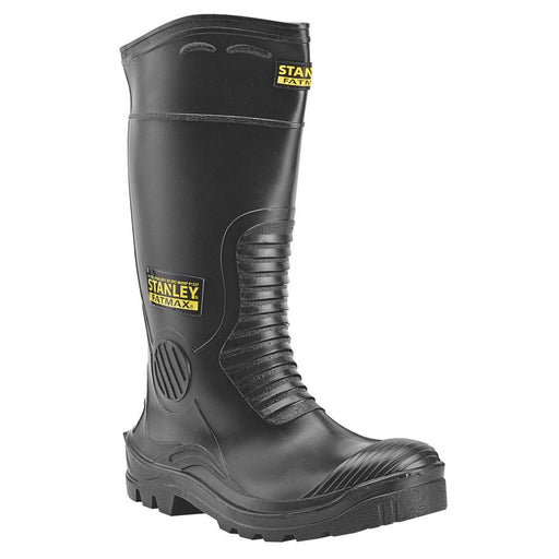 Stanley FatMax Vancouver Safety Wellington Boots Black Size 12 - Image 1