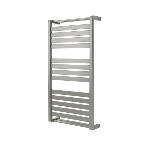 GoodHome Loreto Vertical Water Towel Warmer 1000 x 500mm Grey / Silver - Image 1