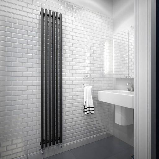 Terma Tune Vertical Designer Radiator VWS 1800x290 Metallic Black Matt - Image 1