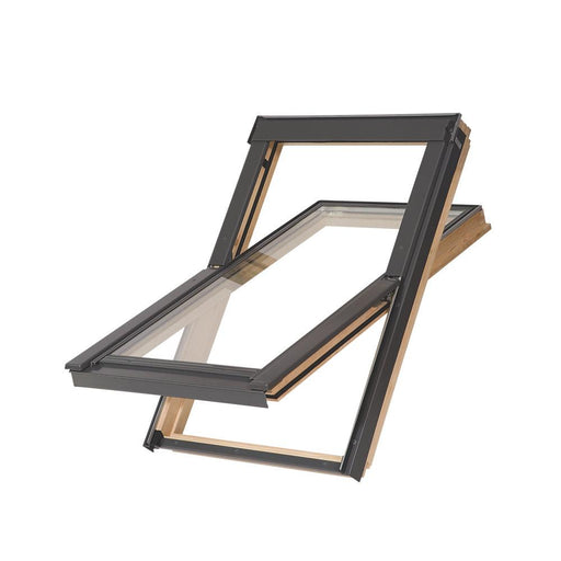 Tyrem Manual Centre-Pivot Roof Window Clear 550 x 780mm - Image 1