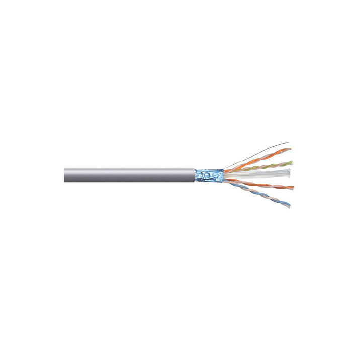 Nexans Ethernet Cable 8-core 305m Grey Cat 6 F/UTP LSZH - Image 1