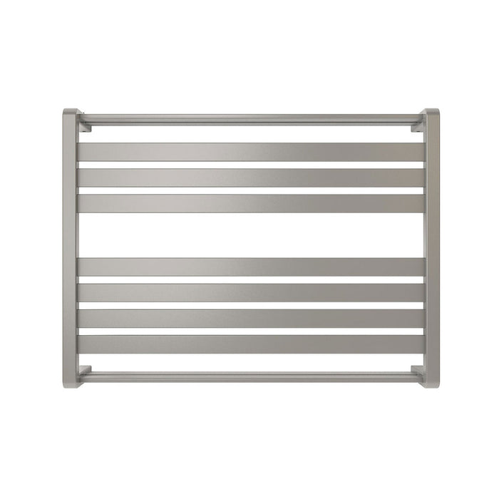 GoodHome Towel Warmer Loreto Horizontal  600 x 800mm Grey Silver - Image 2