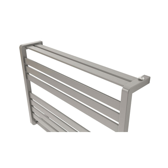 GoodHome Towel Warmer Loreto Horizontal  600 x 800mm Grey Silver - Image 3