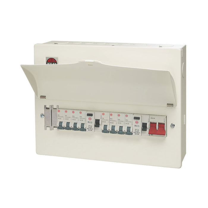 Wylex Consumer Unit 16-module 10 Way Populated High Integrity Dual RCD - Image 1