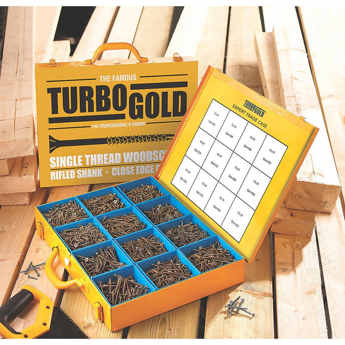 TurboGold PZ Double Self-Countersunk Woodscrews Expert Trade Case 2800 Pcs - Image 5