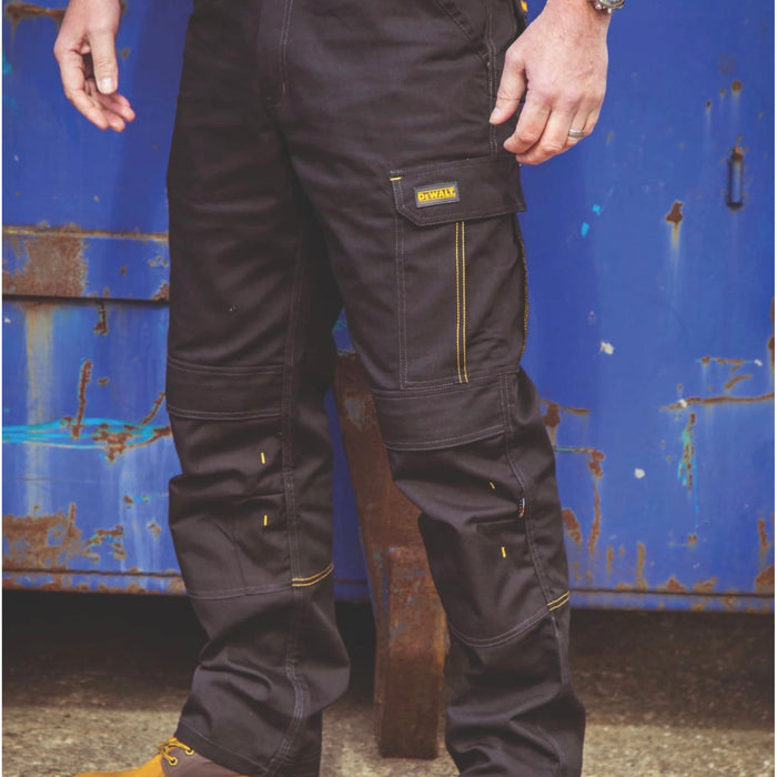 Dewalt Mens Work Safety Trousers Ridgeley Regular Fit Black W34 L32 - Image 2