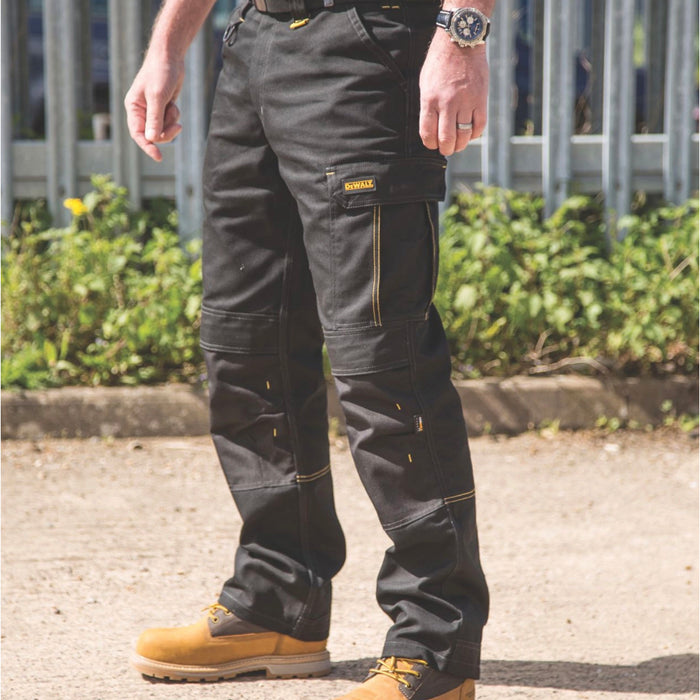 Dewalt Mens Work Safety Trousers Ridgeley Regular Fit Black W34 L32 - Image 5