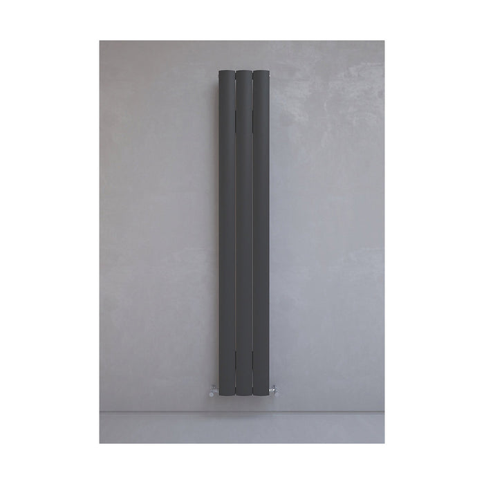 Kudox Vertical Radiator Alulite Arc Black 2396BTU 702W 1800x280mm 1.8 Ltr - Image 2