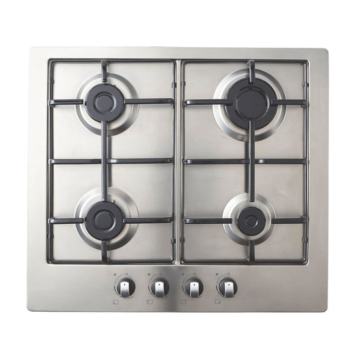 Cooke & Lewis Gas Hob 4 Hobs Build in Stainless Steel 58cm GASUIT4 - Image 1