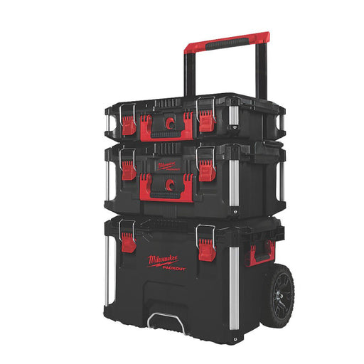 Milwaukee Packout Tool Box Storage Trolley System Set 3 Pieces 113kg Capacity - Image 1