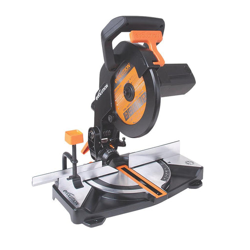 Evolution R210CMS 210mm Single-Bevel Compound Multipurpose Mitre Saw 110V - Image 1
