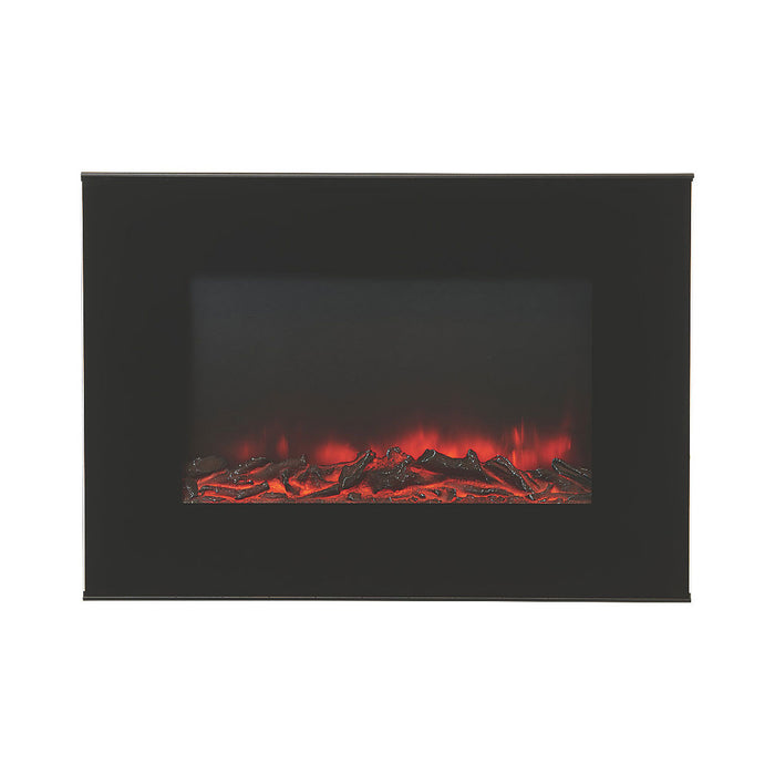 Lingga Electric Fire Wall-hung Remote Control Black Log Effect 1.9 kW - Image 2