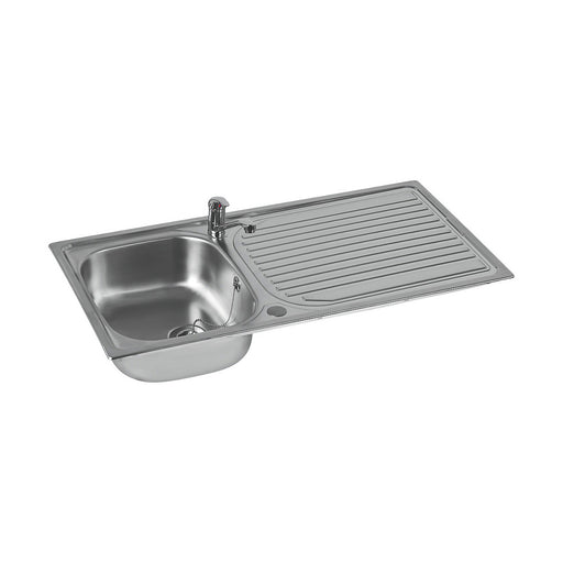 Astracast Kitchen Sink and Tap Stainless Steel 1 Bowl Single lever 965x500mm - Image 1