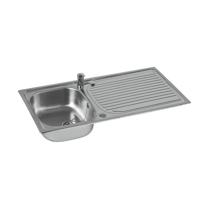 Astracast Kitchen Sink and Tap Stainless Steel 1 Bowl Single lever 965x500mm - Image 2