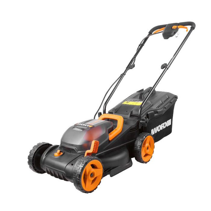 Worx Cordless Rotary Lawnmower 340mm with 2 Batteries 4.0Ah Charger 30l - Image 1