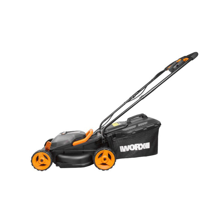 Worx Cordless Rotary Lawnmower 340mm with 2 Batteries 4.0Ah Charger 30l - Image 2