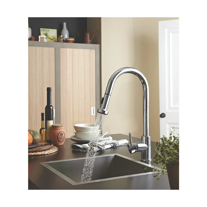 Apricot Sink Mixer with Pull Out Spray Chrome - Image 2