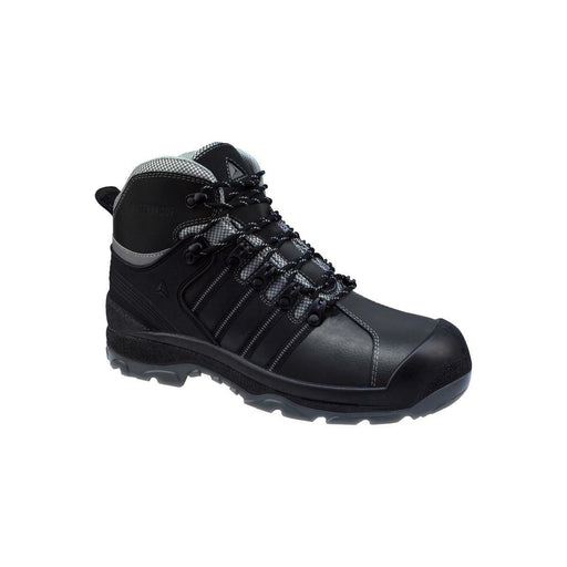 Delta Plus Mens Safety Boots Black Leather Waterproof Composite Toe Cap UK 11 - Image 1