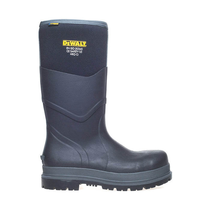 DeWalt Mens Safety Wellington Boots Steel Cap Black Rubber Oil-Repellent UK 6 - Image 2