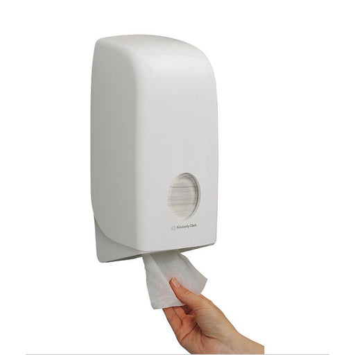 Kimberly-Clark Professional White Aquarius Folded Toilet Tissue Dispenser (5047F) - Image 1