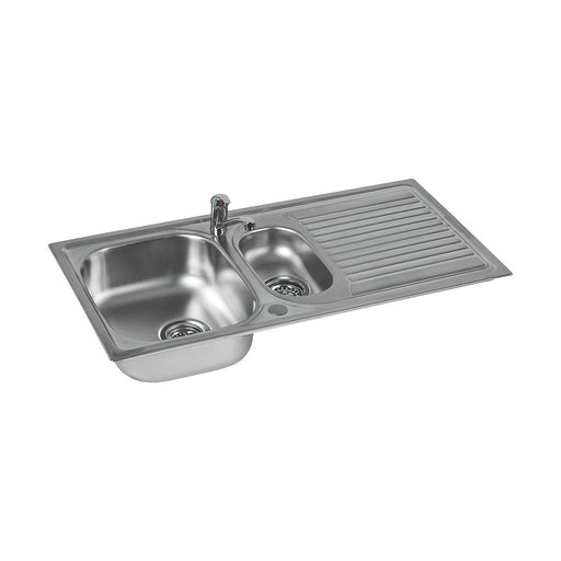 Astracast Kitchen Sink and tap 1.5 Bowl Stainless Steel Single lever 965x500mm - Image 1