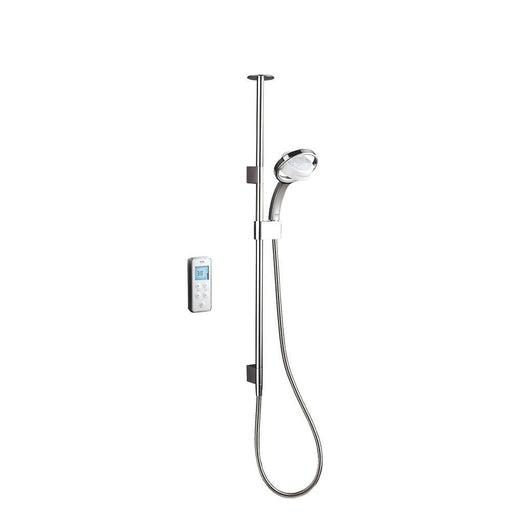 Mira Vision Ceiling-Fed White/Chrome Thermostatic Shower - Image 1