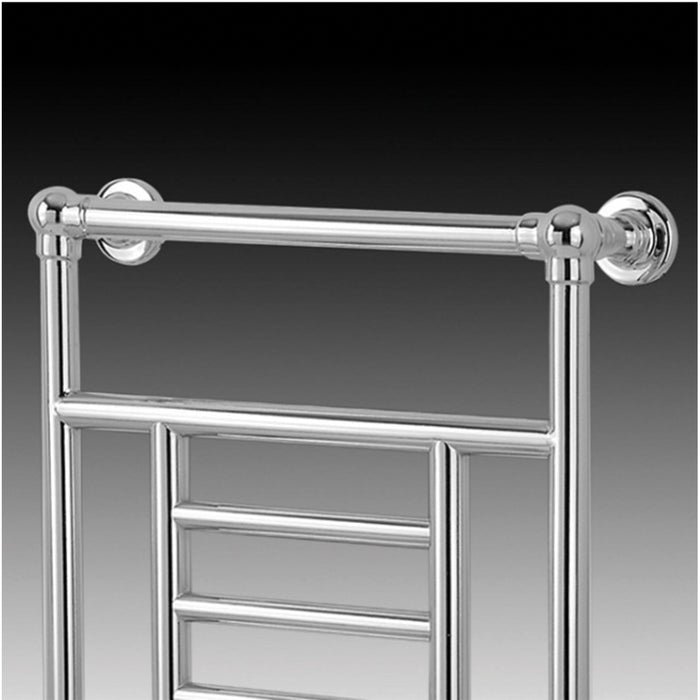 Blyss Traditional Bathroom Towel Warmer Radiator Chrome 914 x 534mm - Image 3