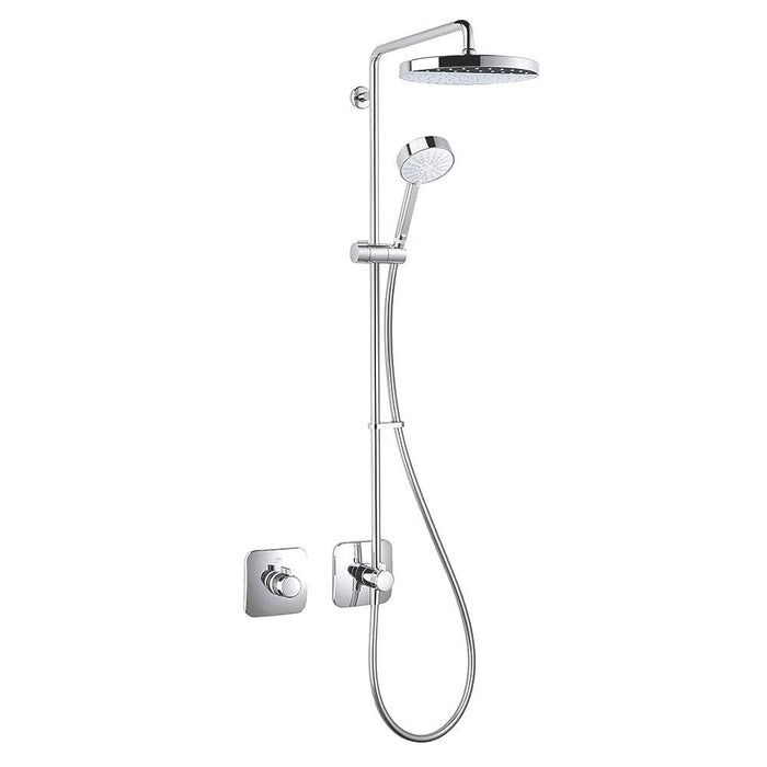 Mira Adept Rear-Fed Built-In Chrome Thermostatic Shower w/Hand Shower/ Deluge Head - Image 1
