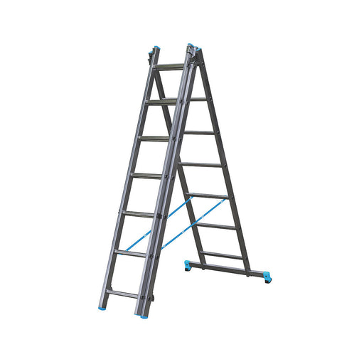 Mac Allisted 3-Section 3-Way Aluminium Combination Ladder 4.65m - Image 1