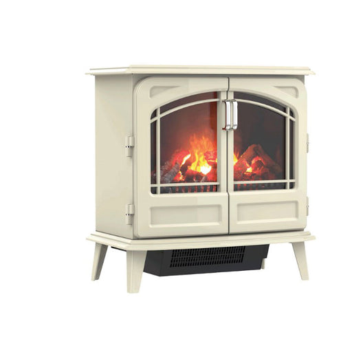 Dimplex Opti-Myst Grand Cream Ivory Cast Enamel Effect Electric Stove - Image 1