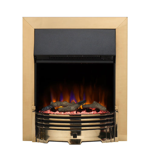Dimplex Optiflame Brass effect Electric Fire Adjustable Flame Intensity - Image 1