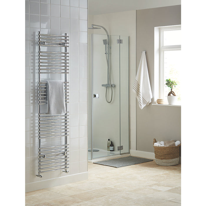 Blyss CAG27GA014 Chrome Curved Towel Radiator Warmer 1674 x 450mm 1814Btu 532 W - Image 2