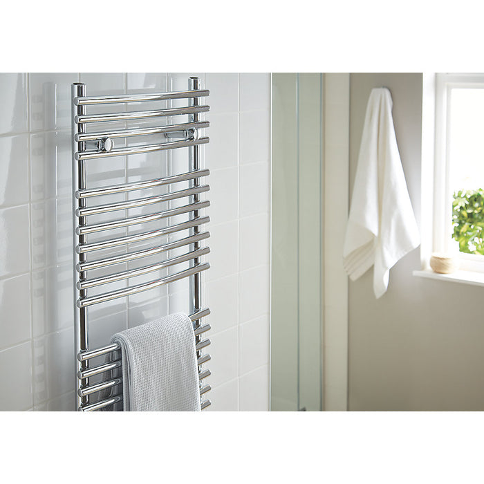 Blyss CAG27GA014 Chrome Curved Towel Radiator Warmer 1674 x 450mm 1814Btu 532 W - Image 3