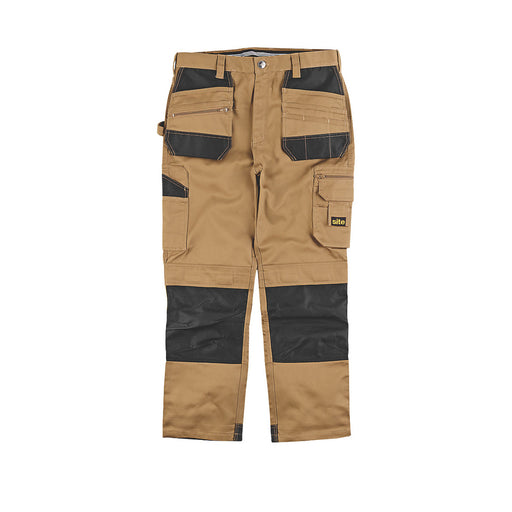 "Site Jackal Work Trousers Stone / Black 38"" W 32"" L - Image 1"