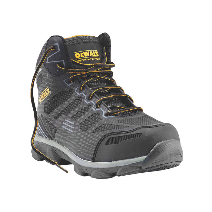 DeWalt Safety Boots Crossfire Black Grey Size UK 8 Wide Fit - Image 2