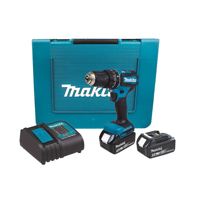 Makita Brushless Cordless Combi Drill 2x5.0ah Batteries 2-Speed Variable&Reverse - Image 1