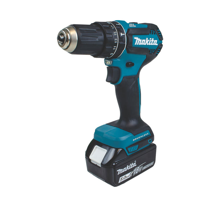 Makita Brushless Cordless Combi Drill 2x5.0ah Batteries 2-Speed Variable&Reverse - Image 2