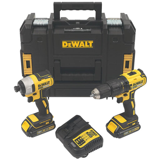DeWalt DCK2060S2T-SFGB 18V 2 x 1.5Ah Li-Ion XR Brushless Cordless Twin Pack - Image 1