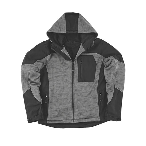 "Site Rowan Fleece-Lined Winter Hoodie Black / Grey X Large 54"" Chest - Image 1"