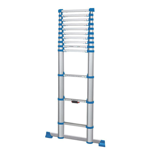 3.8m Telescopic Extension Ladder Multi Purpose Lightweight Aluminium - Image 1