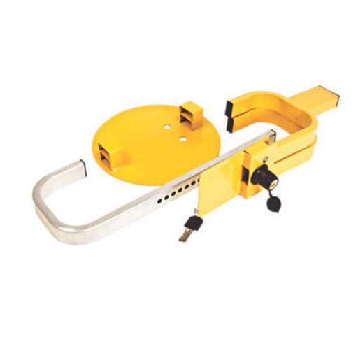 "Maypole Universal Trailer Wheel Clamp 13-17"" Yellow - Image 1"