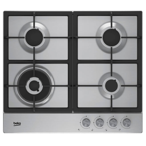 Beko Built-in Gas Hob 4 Burners Integrated HQAW64225 Stainless Steel 60cm - Image 1