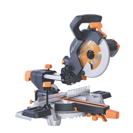 Evolution R210SMS 210mm Electric Single-Bevel Sliding Compound Mitre Saw 110V - Image 1