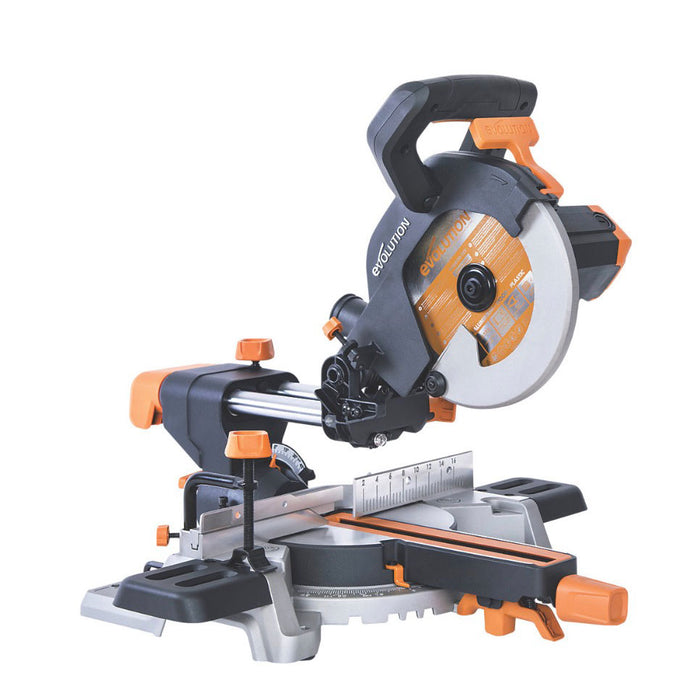 Evolution R210SMZ 210mm Electric Single-Bevel Sliding Compound Mitre Saw 110V - Image 1