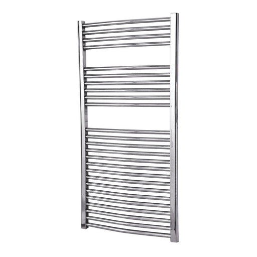 Flomasta Flat Towel Rail 1200 x 600mm Chrome Finish - Image 1