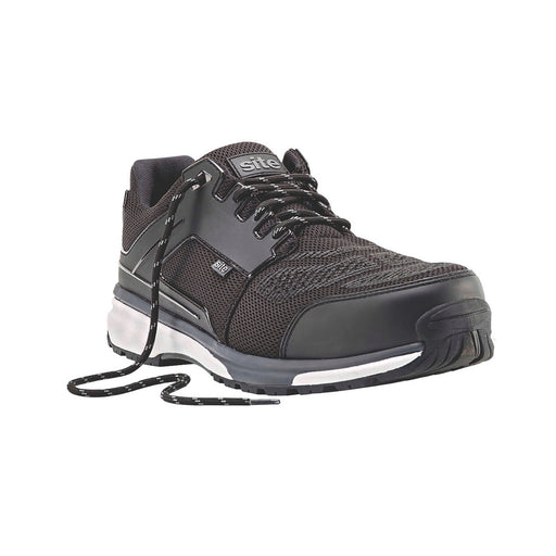 Site Mens Safety Trainers Composite Toe Cap Metal Free Oil Repellent Black UK 8 - Image 1