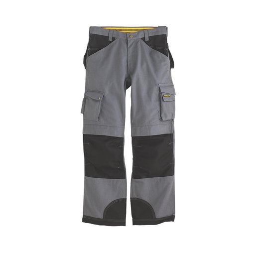 "CAT C172 Trademark Trousers Grey/Black 30"" W 34"" L - Image 1"