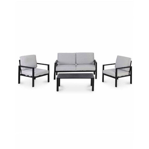 Jaz Metal 4 Seater Coffee Set Outdoor Garden - Image 1